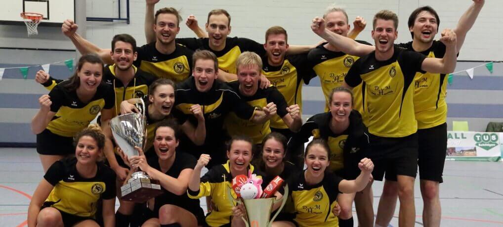 Mannschaftsfoto nach dem DTB-Pokalsieg im Korfball