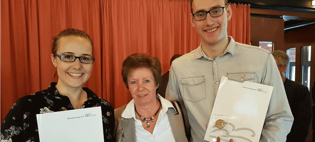Jugendbetreuermedaille für Maibritt & Thorben