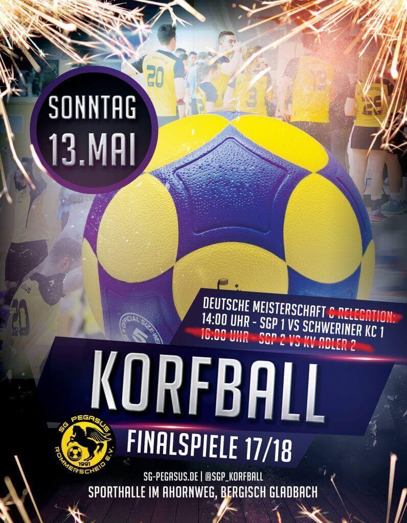 Flyer zum Finalspiel Pegasus gegen Schwerin am 13.5.2018