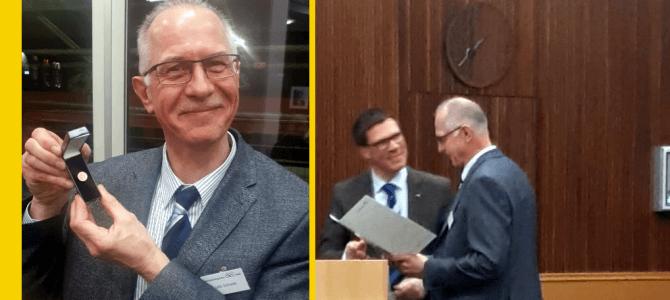 Udo Schade mit Ehrennadel ausgezeichnet